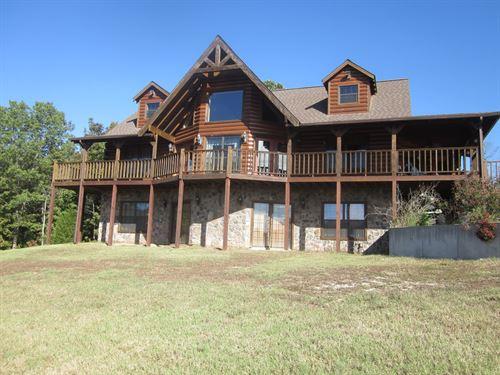 Luxurious Log Home Ozarks,Near : Everton : Marion County : Arkansas