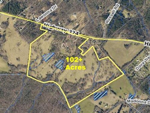 102 Acre Horse Farm With Home : Rock Hill : York County : South Carolina