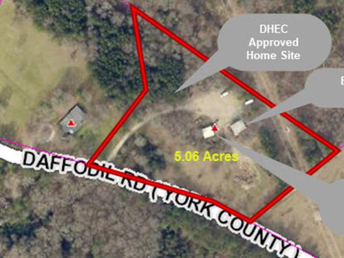 5.06 Acres With Shop & Well : Rock Hill : York County : South Carolina