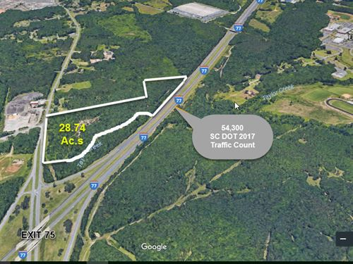 Commercial Acreage Beside I-77 : Rock Hill : York County : South Carolina
