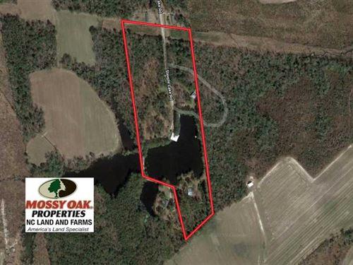 18.23 Acres of Recreational Land : La Grange : Greene County : North Carolina