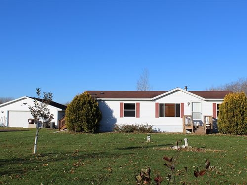3Br/2Ba Country Home 10 Arcres : Milaca : Mille Lacs County : Minnesota