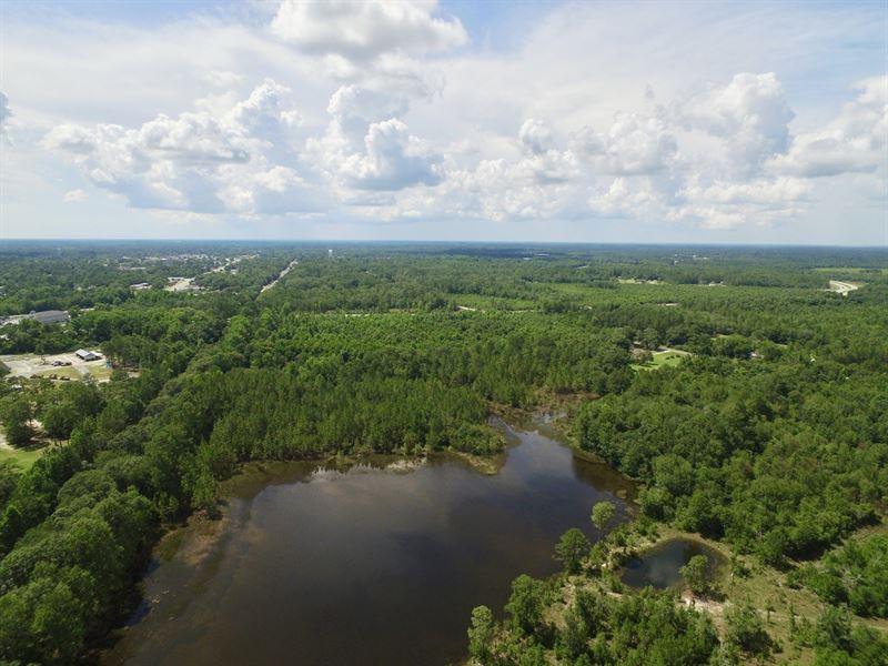 Ideal Recreational Tract With Pond : Jesup : Wayne County : Georgia