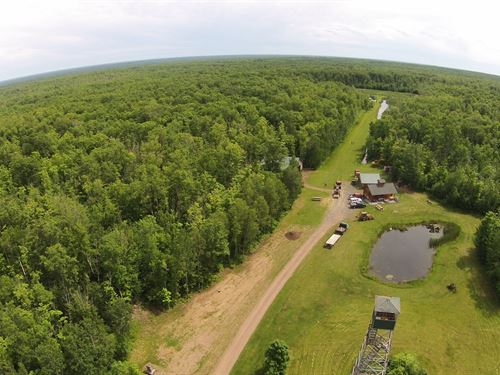 Hunting Acreage, Log Cabin, Pine : Willow River : Pine County : Minnesota