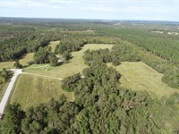 112 Acres With Home, Open & Wooded : Blythe : Burke County : Georgia
