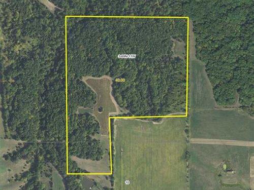 40 Acres M/L Secluded Hunting Prop : Douds : Van Buren County : Iowa