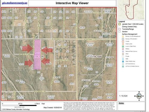 Owner Will Carry, 2 Lots 10.77 : Golden Valley : Mohave County : Arizona