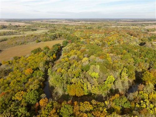 160 Acres of Excellent Hunting : Piqua : Woodson County : Kansas