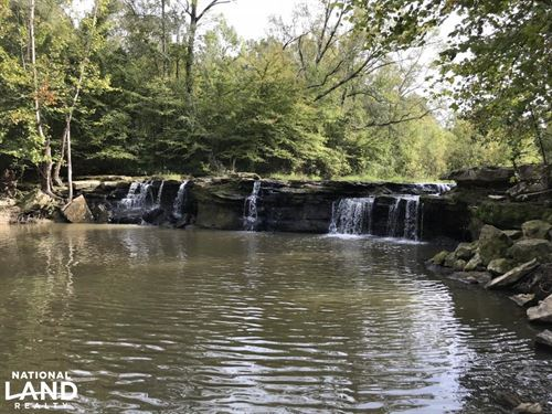 Cabin on Waterfall, Hunting And Tim : Utica : Copiah County : Mississippi