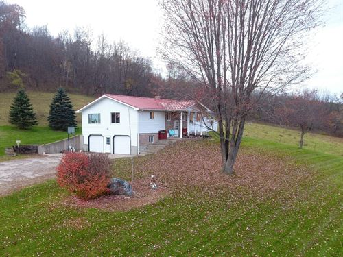 Country Home + Barn And Pasture : Hillpoint : Sauk County : Wisconsin