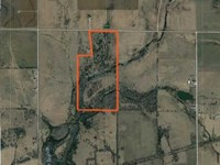 72 Acres of Hunting With Creek And : Benedict : Wilson County : Kansas