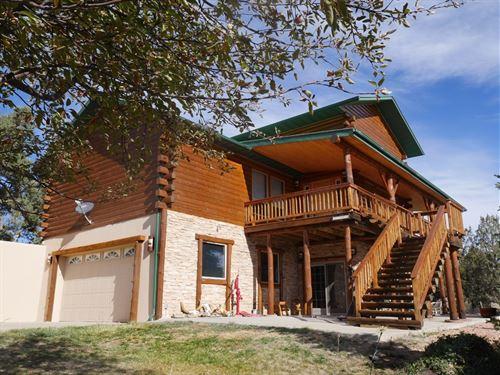 Colorado Log Home 35 Acres Mountain : Lewis : Montezuma County : Colorado