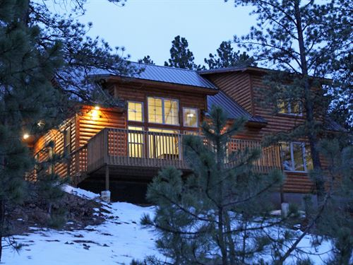 New Log Sided Home Cabin Colorado : Westcliffe : Custer County : Colorado