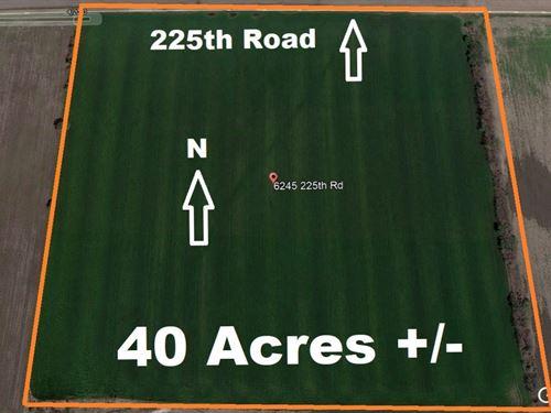 Chanute, KS Creek-Bottom Cropland : Chanute : Neosho County : Kansas