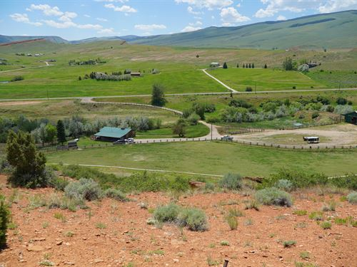 Squaw Creek Home & Acreage : Lander : Fremont County : Wyoming