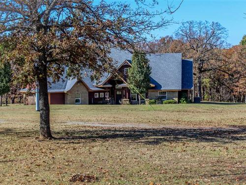 House And 10 Acres For Sale in Pon : Roff : Pontotoc County : Oklahoma