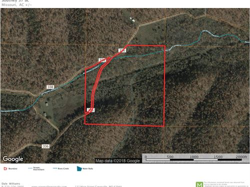 37 Acres With a Creek : Redford : Reynolds County : Missouri