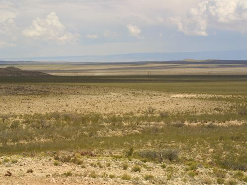60 Ac, Near Co, Rd, Only $358/Mo : Sierra Blanca : Hudspeth County : Texas
