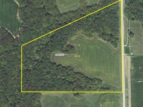 26.12 Acres Great Building Site WI : Keosauqua : Van Buren County : Iowa