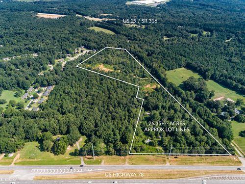26.35 Acres Growing Commercial Area : Watkinsville : Oconee County : Georgia