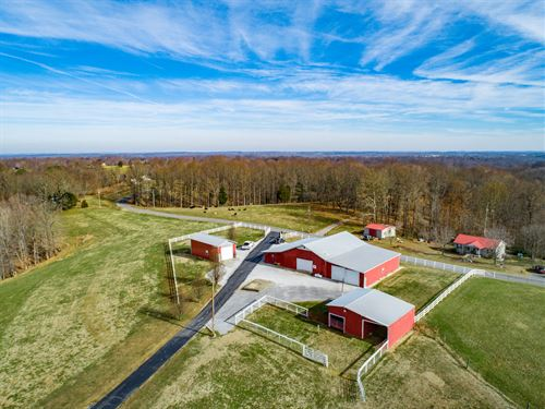 42+Ac Farm, 5 Bd Hm, Garages, Ponds : Lafayette : Macon County : Tennessee