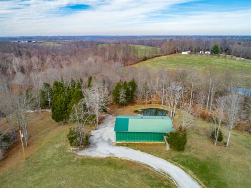 39+Ac Farm, Cabin, 3 Ponds, Creek : Lafayette : Macon County : Tennessee