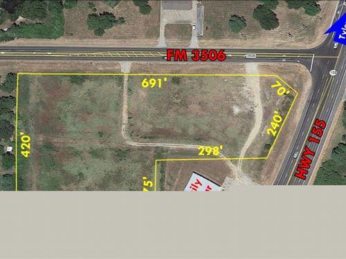 5+ Acres Land Corner Parcel Hwy 155 : Frankston : Henderson County : Texas