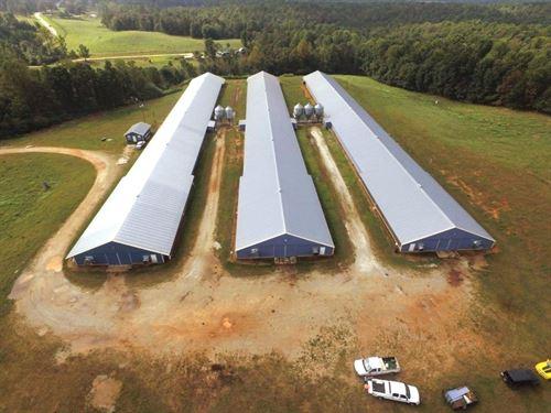 28 Acre Poultry Farm In Alabama : Woodland : Randolph County : Alabama