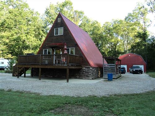 24+ Acres Of Beautiful, Peaceful : Spencer : Owen County : Indiana
