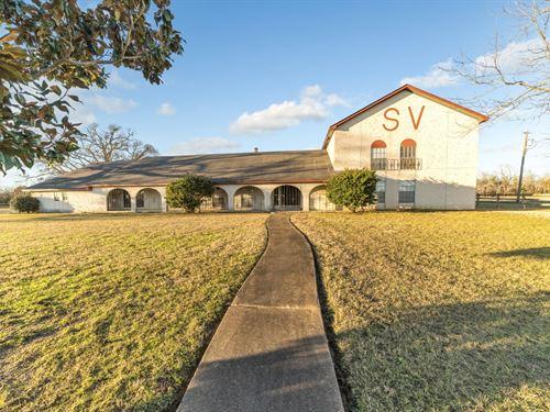 East Texas Hay Farm Cattle Horse : Overton : Rusk County : Texas