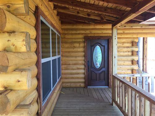 Log Home Ok-Land, Cabin Sardis Lake : Clayton : Pushmataha County : Oklahoma