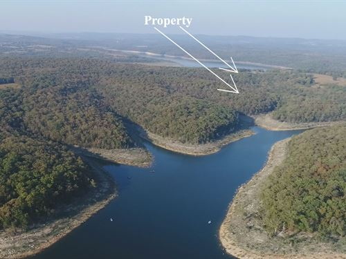 10 Acres On Bull Shoals Lake : Cedarcreek : Taney County : Missouri