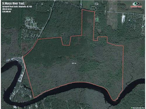 307 Acre Land For Sale on The St.M : Kingsland : Camden County : Georgia