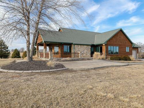 Craftsman Style Acreage Nebraska : Denton : Lancaster County : Nebraska