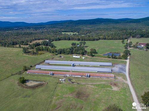 Broiler Farm in Polk County, AR : Mena : Polk County : Arkansas