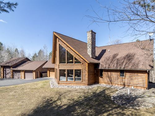 176019-Gorgeous Tomahawk Log Home : Minocqua : Oneida County : Wisconsin