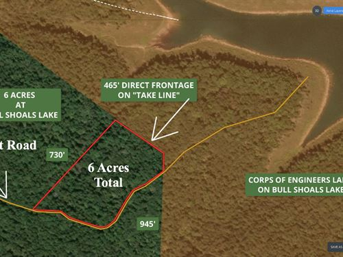 6 Acres On Bull Shoals Lake : Cedarcreek : Taney County : Missouri