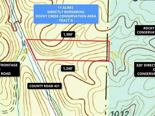 11 Acres Connected To Public Land : Drury : Shannon County : Missouri