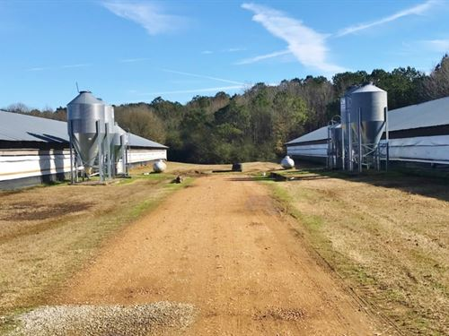 Rare 3 House Spike Poultry Farm : Carthage : Leake County : Mississippi