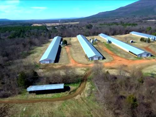 Broiler Farm, 4 Houses, 70 Acres : Hartford : Sebastian County : Arkansas