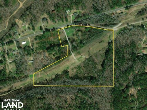 Camp Creek Mini Farm And Homesite : Green Pond : Bibb County : Alabama
