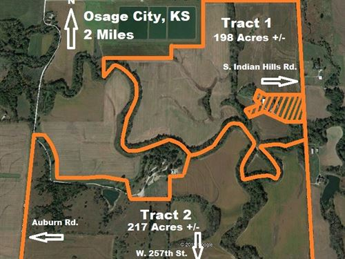 Osage County, Kansas Crop Land : Osage City : Osage County : Kansas