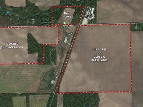 148 Ac Ballou Rd Farm : Wilmington : Will County : Illinois