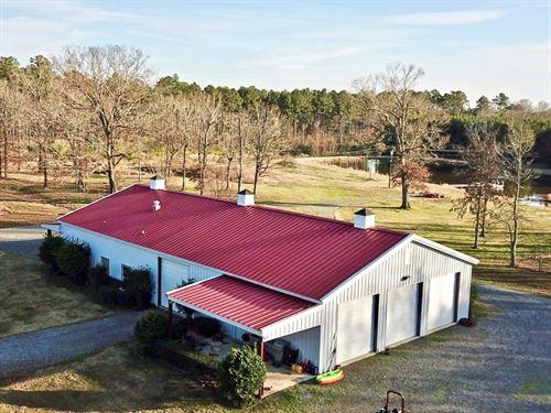 Barndominium On 160 Acres With Pond : Frierson : De Soto Parish : Louisiana