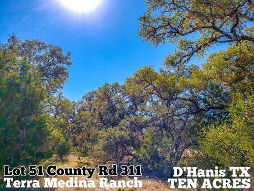 10.32 Acres In Medina County : D'hanis : Medina County : Texas