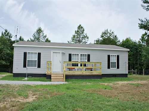 Reduced, 3 Bedroom 2 Bath Country : Hohenwald : Lewis County : Tennessee
