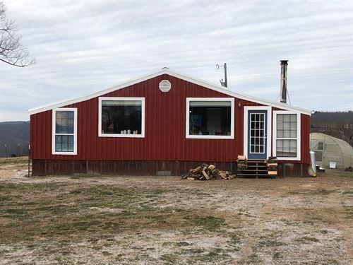 Mountain Top Home 55 Acres Gorgeous : Clinton : Van Buren County : Arkansas