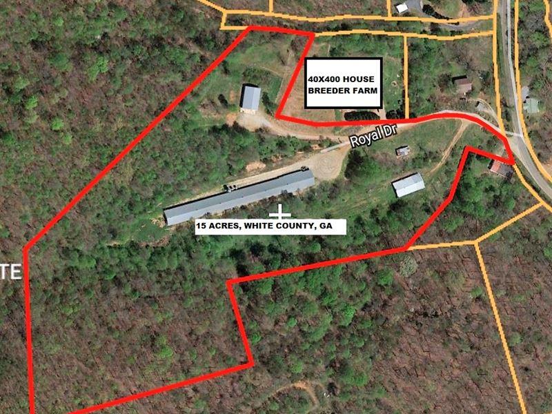 Poultry / Breeder Farm : Farm for Sale : Cleveland : White County : Georgia