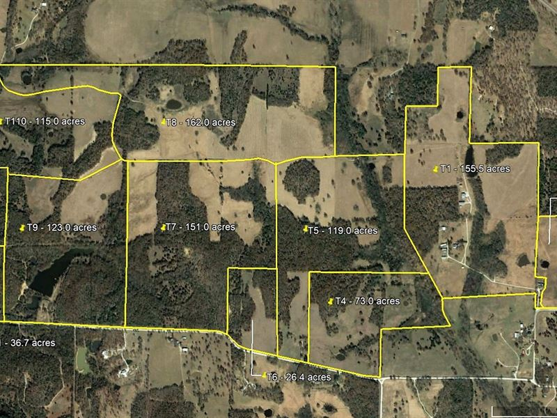 Wolf Creek Ranch Divided 11 Tracts : Gainesville : Cooke County : Texas