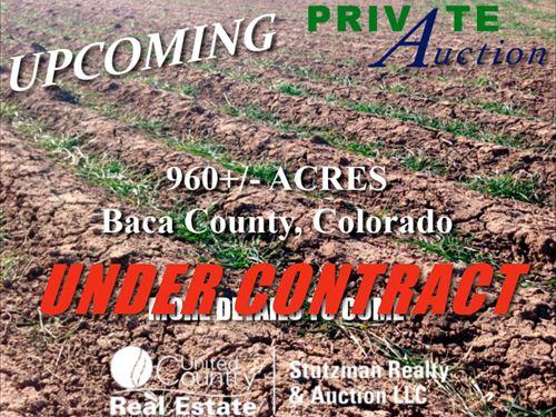 Baca County, Colorado 960 Acres : Walsh : Baca County : Colorado